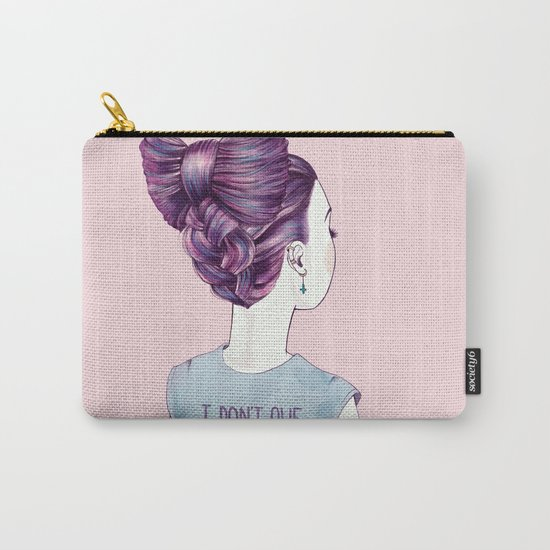 i don't owe you a smile Carry-All Pouch