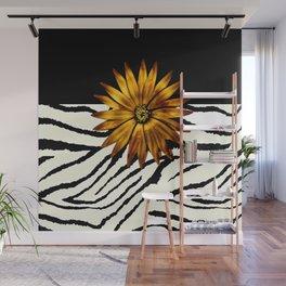 Animal Print Zebra Pattern Black and White Wall Mural