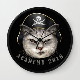 PIRATECAT ACADEMY Wall Clock
