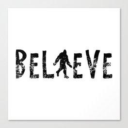 I Believe Yeti Bigfoot Sasquatch Canvas Print