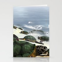 turtles Stationery Cards featuring Turtles by nicky2342