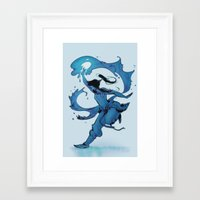korra Framed Art Prints featuring KORRA by Ciaran