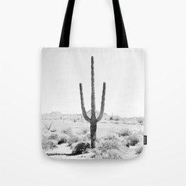 Cactus BW Tote Bag