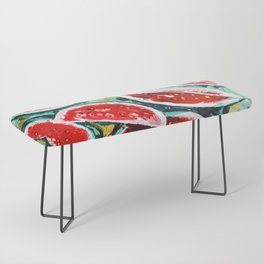 watermelon acrylic art Bench