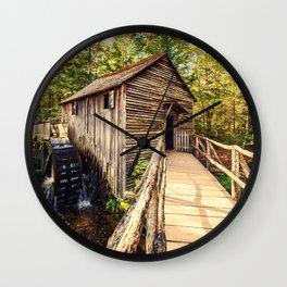 Cades Cove Grist Mill Wall Clock