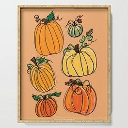 Pumpkins Serving Tray