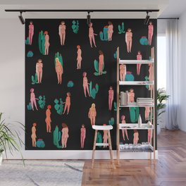 Naked girls and cactus Wall Mural