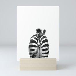 Zebra Butt, Zebra Photography Mini Art Print