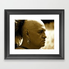 A Warrior's Stare Framed Art Print