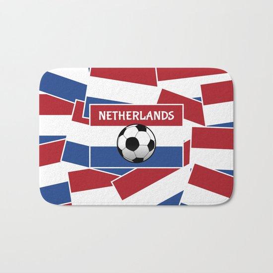 Netherlands Flag Football Bath Mat