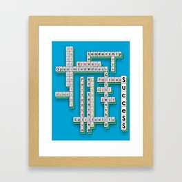 Cross Word Puzzle of Success Framed Art Print