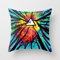 floyd Throw Pillows featuring Floyd Forest by TheSeed91