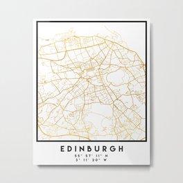 EDINBURGH SCOTLAND CITY STREET MAP ART Metal Print
