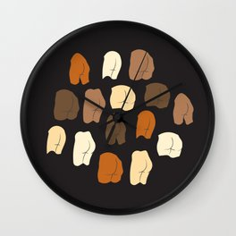 Beautiful Butts Wall Clock