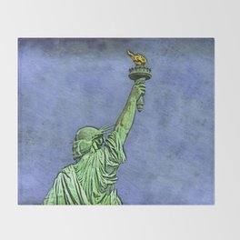 Lady Liberty #3 Throw Blanket