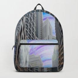 paint splatter city  Backpack