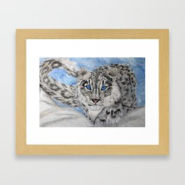 Snow Leopard Framed Art Print