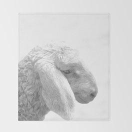 Black and White Sheep Throw Blanket