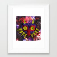 majora Framed Art Prints featuring Majora by Bradley Bailey