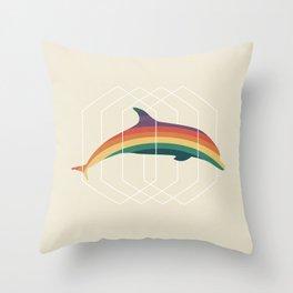 Calico Dolphin Throw Pillow
