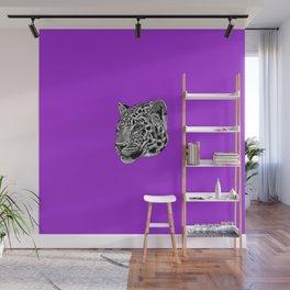 Amur leopard cub - purple - big cat Wall Mural