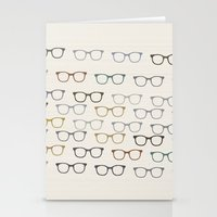 glasses Stationery Cards featuring glasses by jamiejoyet