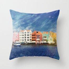 Willemstad, Curaçao Throw Pillow