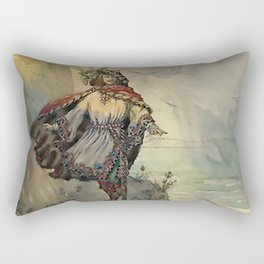 """""""King of the Fairies"""" by A Duncan Carse Rectangular Pillow"""