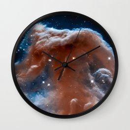 Horsehead Nebula, Galaxy Background, Universe Large Print, Space Wall Art Decor, Deep Space Poster Wall Clock