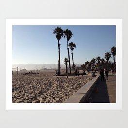 Santa Monica Beach in California Art Print