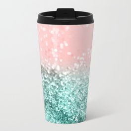Summer Vibes Glitter #4 #coral #mint #shiny #decor #art #society6 Travel Mug