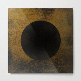 Rustic Dusk - Abstract, rustic, metallic artwork Metal Print