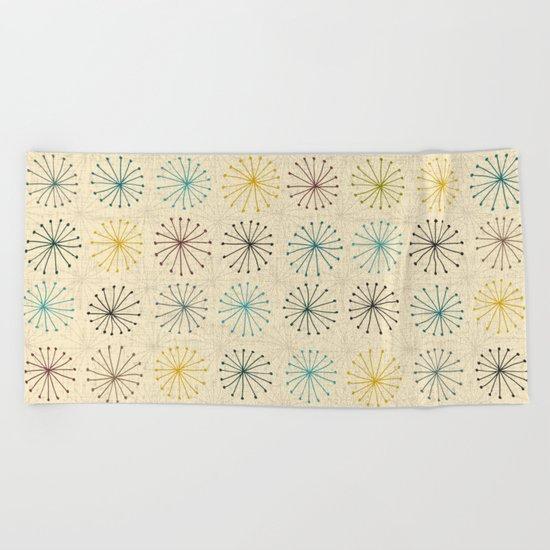 seedheads cream Beach Towel