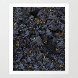 Fit In (moonlit blue) Art Print