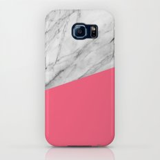 Marble and Pink Galaxy S6 Slim Case
