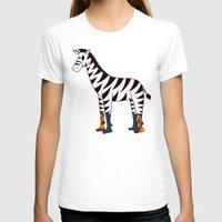 socks T-shirts featuring Zebra Socks by Kendra Blinde