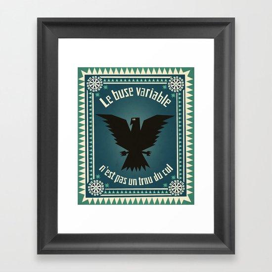 Le buse variable Framed Art Print
