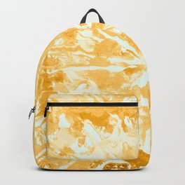 Yellow Mustard Tie-Dye Colored Pattern Design // Hand Painted Mandala Multi Media Abstract Backpack