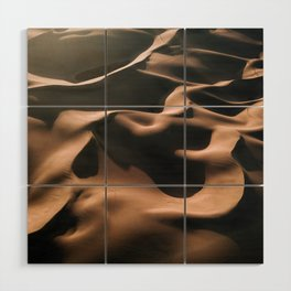 Lovers in the Sand - Aerial Landscape Photography Wood Wall Art