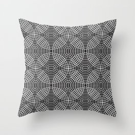 Radio Waves in Black and White Throw Pillow