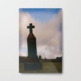 Cross on the Hill Metal Print