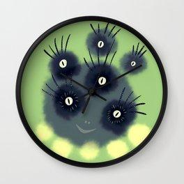 Creepy Cute Spider Face Monster Wall Clock