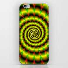 Spiral in Yellow Red and Green iPhone & iPod Skin