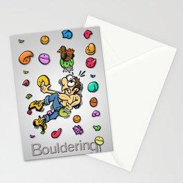 Bouldering and climbing / Boulder i escalada Stationery Cards