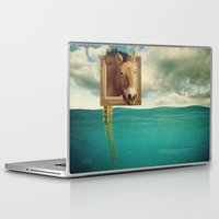 sea horse Laptop & iPad Skins featuring Sea Horse by Ross Sinclair