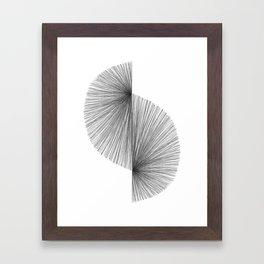 Mid Century Modern Geometric Abstract S Shape Line Drawing Pattern Framed Art Print