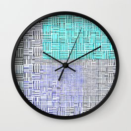 Abstract City Block Wall Clock