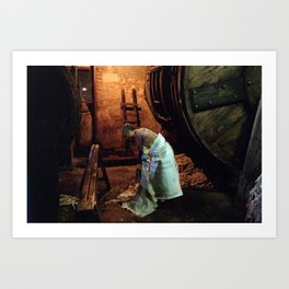 Worker at Leather factory Art Print