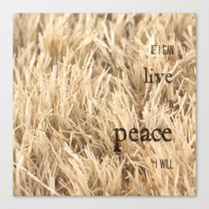 Live in Peace Canvas Print