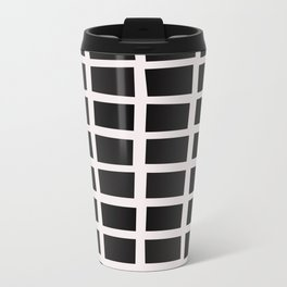 SQUARE.Grid Metal Travel Mug